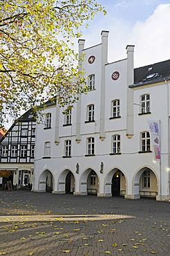 City Museum, market square, Beckum, Muensterland region, North Rhine-Westphalia, Germany, Europe, PublicGround