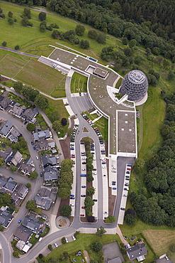 Aerial view, Coversum Hotel, Winterberg, Sauerland region, North Rhine-Westphalia, Germany, Europe