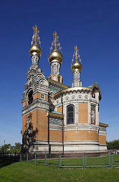 Russian Chapel, Mathildenhoehe, Darmstadt, Hesse, Germany, Europe