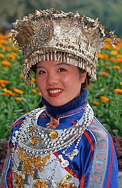 Zhuang Girl, ethnic minority, Guilin, Guangxi, China, Asia