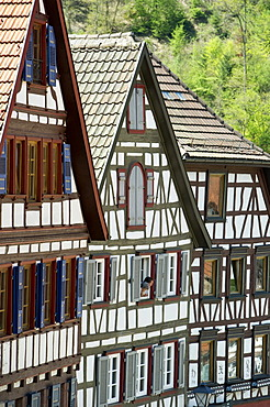 Half-timbered houses in Schiltach, Kinzigtal Valley, Black Forest, Baden-Wuerttemberg, Germany, Europe