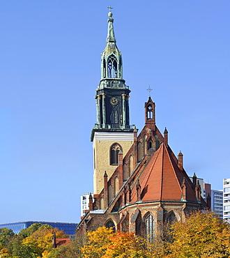 Marienkirche church seen from the east, Berlin, Germany, Europe