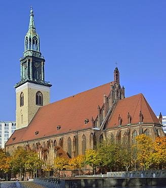 Marienkirche church seen from the southeast, Berlin, Germany, Europe