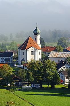 Parish Church of St. Clement, Eschenlohe, Upper Bavaria, Bavaria, Germany, Europe