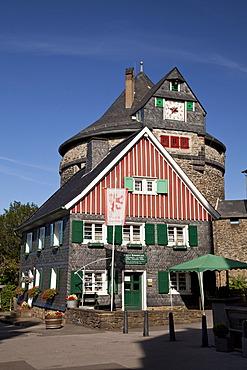Kunststuben building and Batterieturm tower, Burg Castle, Burg an der Wupper, Solingen, Bergisches Land region, North Rhine-Westphalia, Germany, Europe