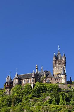 Reichsburg Imperial Castle, Cochem, Moselle, Rhineland-Palatinate, Germany, Europe, PublicGround