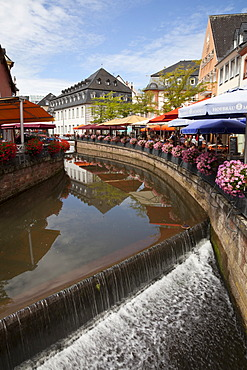 """Little Venice"" in the old town, Saarburg, Saarland, Rhineland-Palatinate, Germany, Europe, PublicGround"
