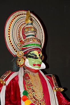 The Kathakali character Jayantha, Varkala, Kerala, India, Asia