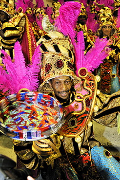 Musicians of the Uniao da Ilha samba school at the Carnaval in Rio de Janeiro 2010, Brazil, South America