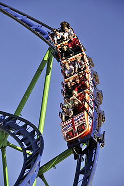 Alpina-Bahn roller coaster, Oktoberfest fair, Munich, Bavaria, Germany, Europe