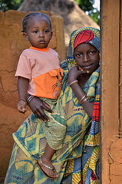 Children in the village of Idool, near Ngaoundéré, Cameroon, Central Africa, Africa