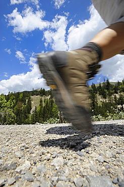 Detail wanderer, legs, mountain shoe