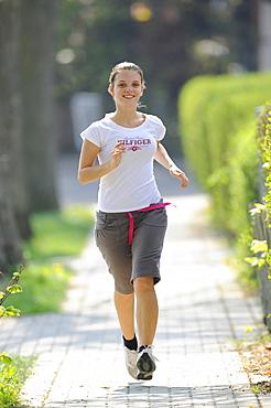 Girl, jogging