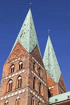 Marienkirche church, Luebeck, Schleswig-Holstein, Germany, Europe