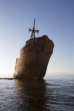Shipwreck, Glyfada beach, Mani, Lakonia, Greece, Europe