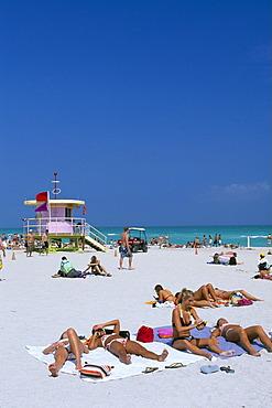 People at South Beach, Miami Beach, Miami, Florida, USA