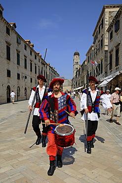 Parade of the gatekeepers in Dubrovnik, Croatia, Europe