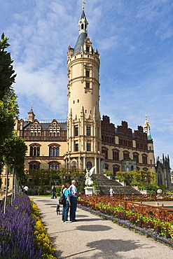 Schloss Schwerin Castle, Schwerin, Mecklenburg-Western Pomerania, Germany, Europe