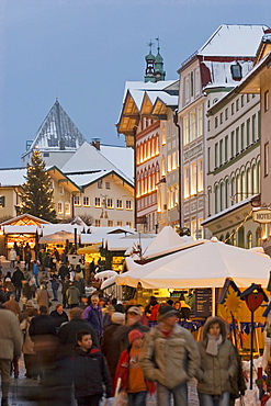 Christmas market in Bad Tölz Upper Bavaria Germany