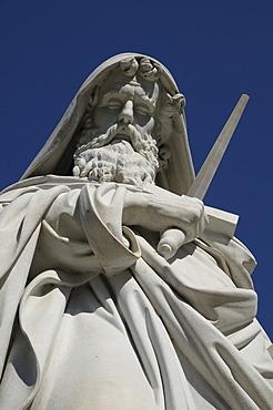 Statue of St. Paul, Basilica San Paolo fuori le Mura, Basilica of Saint Paul Outside the Walls, Rome, Italy, Europe