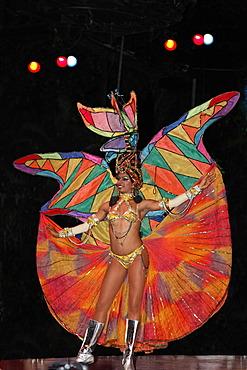 Dancer at the Tropicana open-air nightclub in the suburb of Marianao, La Habana, Havana, Villa San Cristobal de La Habana, Republic of Cuba, Caribbean, Central America