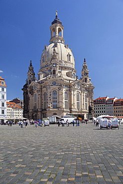 Church of Our Lady on Neumarkt square, Dresden, Saxony, Germany, Europe