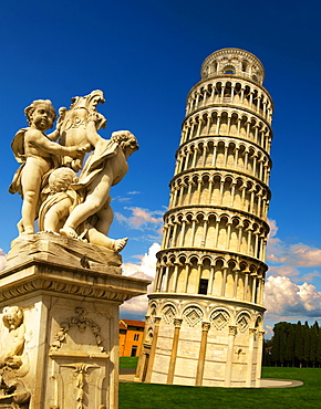 Leaning Tower of Pisa, Pizza del Miracoli, Pisa, Italy, Europe
