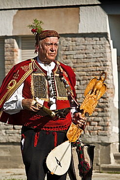 Old man in the traditional Croatian folklore costume, Croatia, Europe