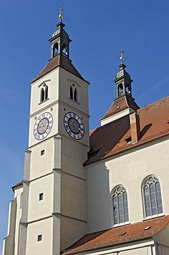 Neupfarrkirche or New Parish Church, Regensburg, Upper Palatinate, Bavaria, Germany, Europe