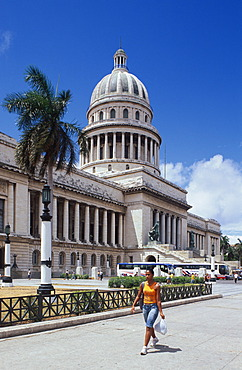 Capitolio on Paseo de Marti, Prado, Habana, Havana, Cuba, Caribbean