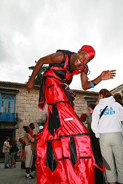 Salsa dancing during Carnival, Plaza de la Catedral, Havana, Cuba, Caribbean, Americas