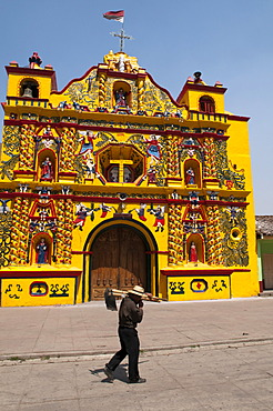 San Andres Xecul church, Guatemala, Central America