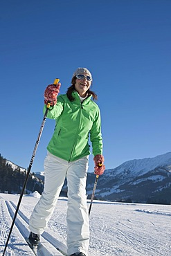 Cross-country skiing woman