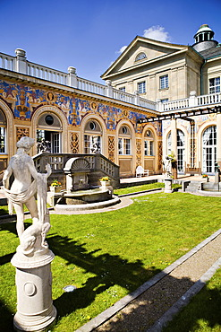 Ornamental courtyard, Regentenbau, Bad Kissingen, Bavaria, Germany, Europe