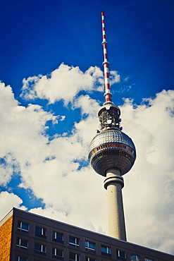 Fernsehturm, television tower in Berlin, Germany, Europe