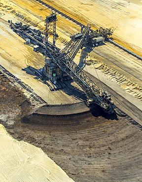 Bucket-wheel excavator, lignite mining, Garzweiler, near Jüchen, Erkelenz, North Rhine-Westphalia, Germany, Europe