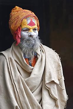 Hinduist Sadhu, Holy Man, Pashupatinath Temple, Kathmandu, Nepal, Asia