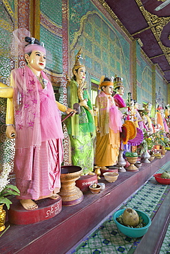 Mahagiri Nats statues, Nats museum, Mount Popa, Myanmar, Asia