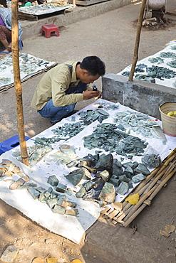 Bogyoke Aung San jade market, Mandalay, Myanmar, Asia