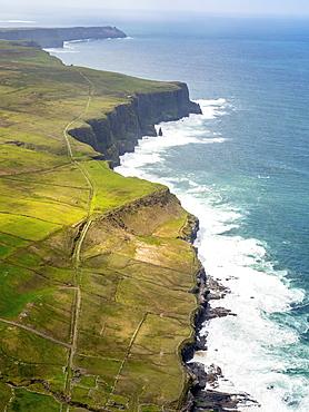 Cliffs of Moher, rocky coastline, County Clare, Ireland, Europe
