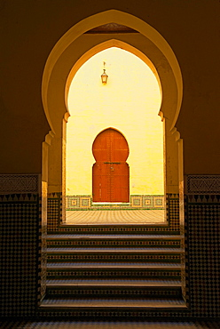 Mausoleum of Moulay Ismail, Meknes, Morocco, Africa