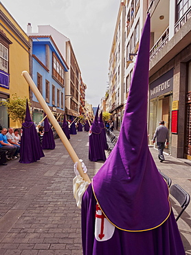 Traditional Easter Holy Week Procession in San Cristobal de la Laguna, Tenerife Island, Canary Islands, Spain, Europe