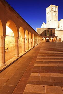 Basilica of San Francesco, Unesco World Heritage Site, Assisi, Province of Perugia, Umbria, Italy, Europe