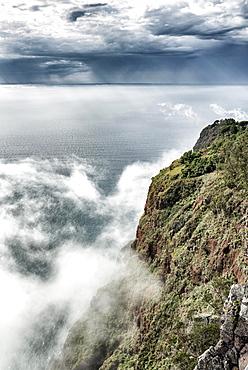 Europe's highest cliff Cabo Girão near Câmara de Lobos, Madeira, Portugal, Europe