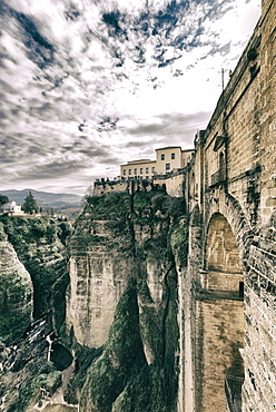 El Tajo gorge and the Puente Nuevo in Ronda, Malaga, Andalucia, Spain, Europe