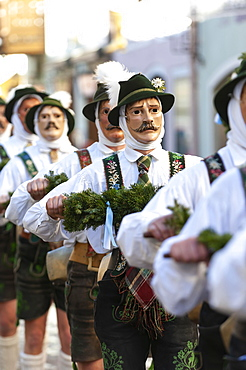 Schellenruhrer, Carnival procession, Nonsense Thursday, Mittenwald, Werdenfelser Land, Upper Bavaria, Bavaria, Germany, Europe