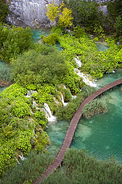 Lake, Plitvice Lakes National Park, Lika-Senj, Croatia, Europe