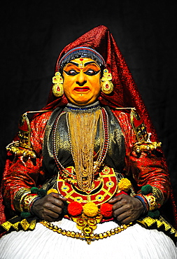 Kathakali, traditional ritual dance theatre, Varkala, Kerala, South West India, India, Asia