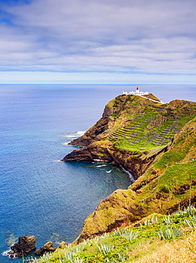 Lighthouse on Ponta do Castelo, Santa Maria Island, Azores, Portugal, Europe