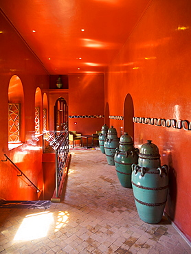 Cafe Arabe, trendy meeting place, Medina, Marrakech, Marrakech-Tensift-Al Haouz, Morocco, Africa